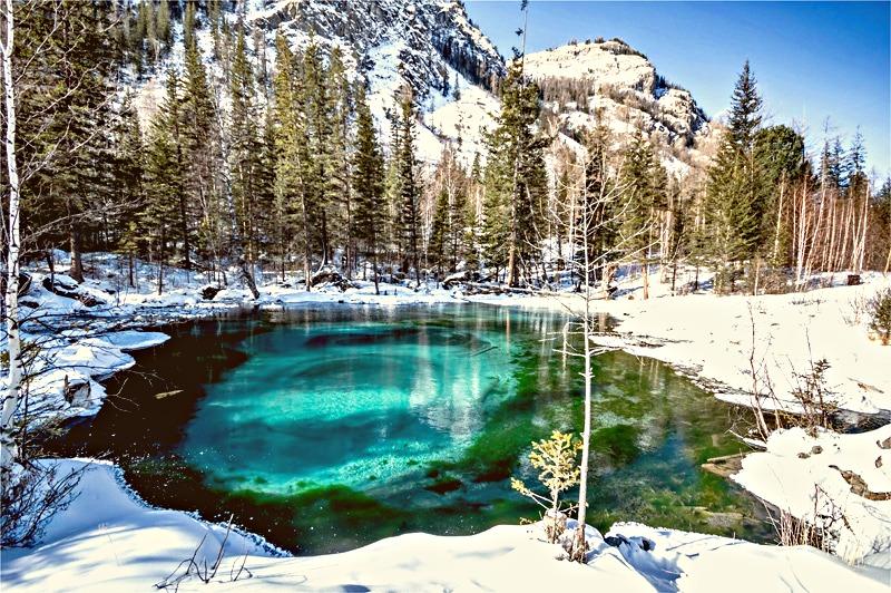 Голубые озера возле с. Акташ на Алтае