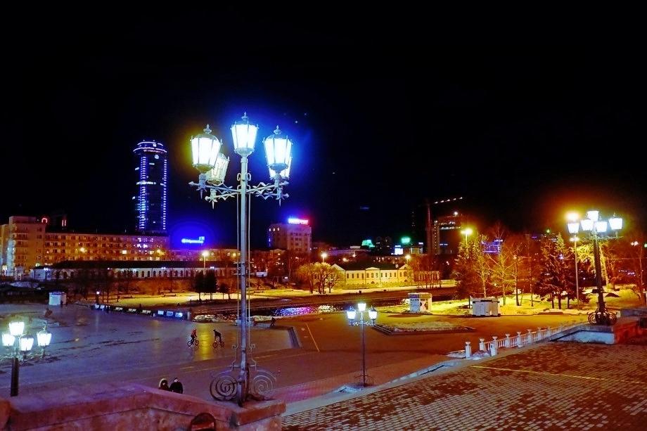 Новый год в Екатеринбурге, плотинка