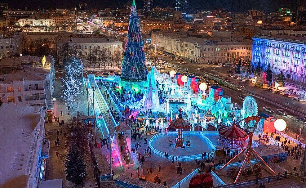 Екатеринбург зимой, новый год в Екатеринбурге